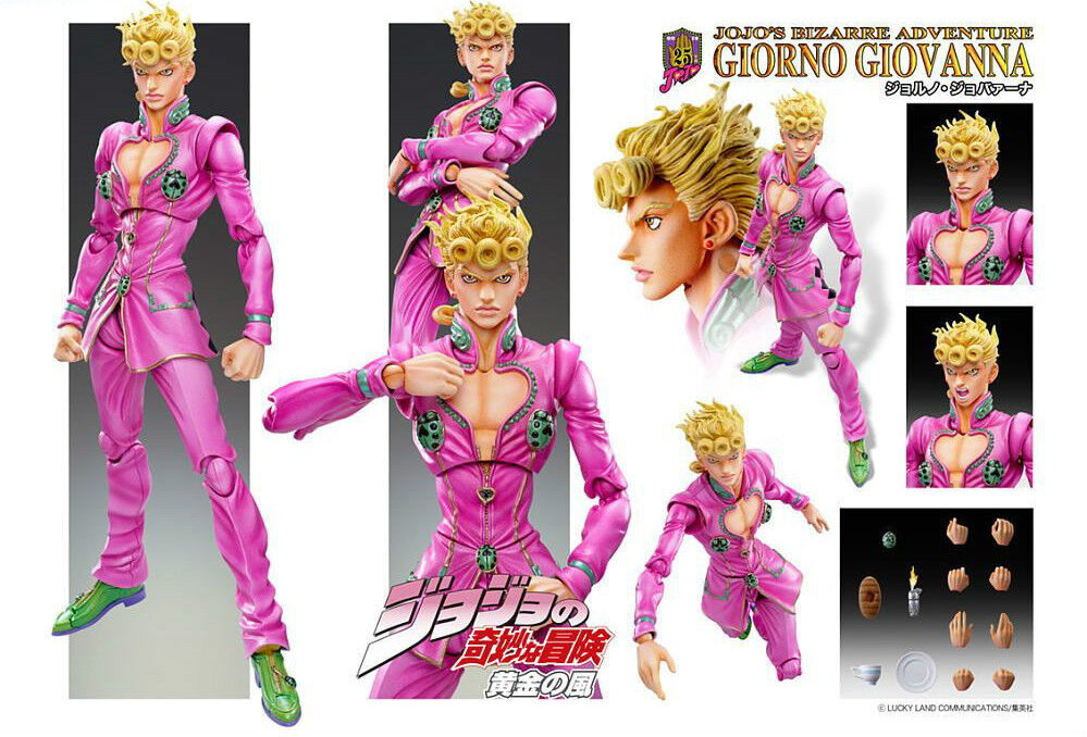 JoJo Adventure Super Action Statue Giorno Giovanna Ltd Hirohiko Araki color SAS