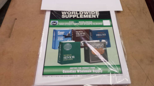 1990 World Stamp Album Supplement two post fits HARRIS Other years available