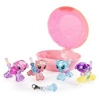 Babies 4-Pack Pandas and Puppies Collectible Bracelet Set for Kids Twisty Petz