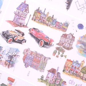 2Sheets-Creative-Buildings-Diary-Scrapbook-Decoration-DIY-Stickers-Toys-Gift-iv