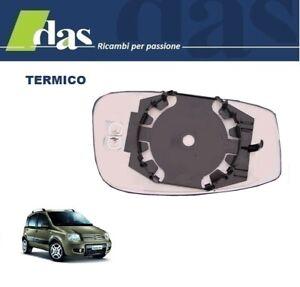 Vetro Piastra Specchio Retrovisore Fiat Panda 2012 Destro Termico