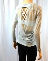 NWT Lululemon If You're Lucky Long Sleeve Tee Sheer Top 4 6 8 10 12 Silver Spoon