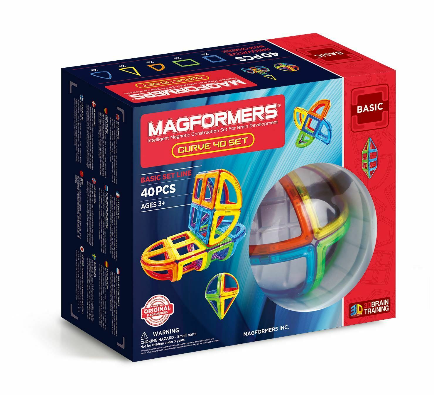 Magformers Curve 40 Pieces Intelligent Magnetic Construction Set