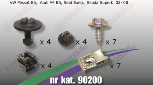 Unterfahrschutz Clips Schrauben Passend für VW Passat B5 96-05 Audi A4 B5 94-01