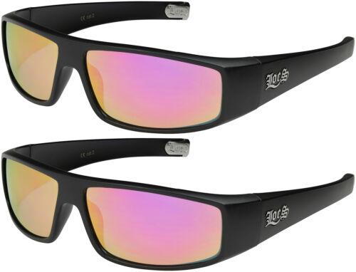 2er Pack Locs 9035 Choppers Sportbrille Sonnenbrille Männer Herren schwarz matt
