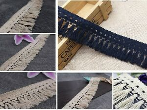 Sewing-Accessory-Fringe-Black-Home-Craft-Tassel-Cotton-Tool-Trims-1-10-yds-Beige