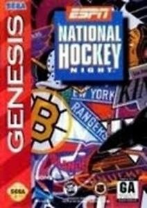 Complete ESPN National Hockey Night - Authentic Sega Genesis Game
