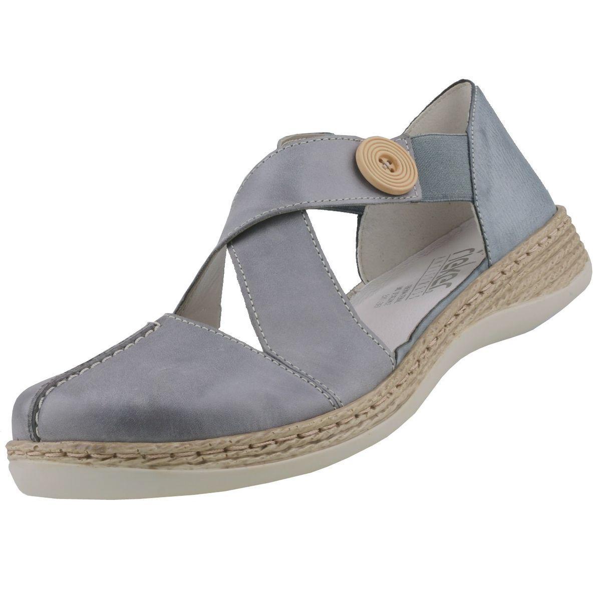 Nouveau RIEKER chaussures femmes chaussures femmes-Sandales Ballerines Cuir Basses Pantoufles