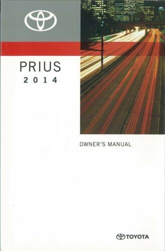 2014 Toyota Prius Owners Manual User Guide