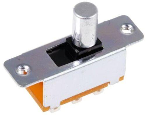 SLC-2200-7R Panel Mount Slide Switch DPDT 300 mA @ 30 V dc