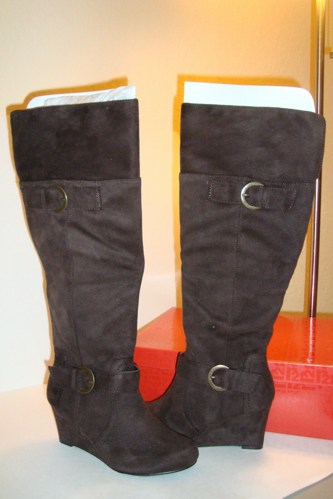 R2 Footwear femmes Mackenzie marron bottes chaussures 8 MED PREOWNED