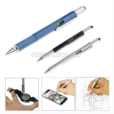 UN3F Multifunction Touch Screen Stylus Pen with Spirit Level Ruler Screwdriver