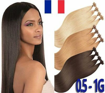 50,100,150 Extensions Pose A Chaud Cheveux Naturels Remy 49/60cm 0,5g-1g Pro+ Hair Care & Styling
