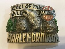 Harley-Davidson Belt Buckle Call Of The Wild Design by Baron ©1994 Very Rare