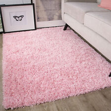 Baby Pink Girls Shaggy Rug For Living Room Bedroom House Floor 60cm