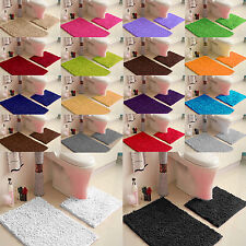 NEW 2 PIECE BATH & PEDESTAL MAT TOILET SET NON SLIP MACHINE WASHABLE BATHMAT SET
