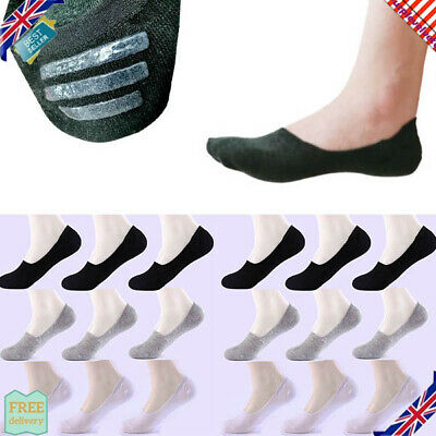 3 LADIES TRAINER SOCKS INVISIBLE TRAINER SHOE LINERS SIZE 4-11 FOOTSIES GYM SOCK
