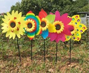 New-Sunflower-Windmill-Wind-Spinner-Decoration-Home-Yard-Garden-Decor