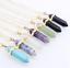 Piedras-preciosas-naturales-talladas-con-punta-hexagonal-Reiki-Chakras-Colgante-de-curacion-Collares miniatura 1