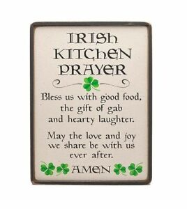 5\u201d x 7\u201d Slate Home Decor Irish Kitchen Prayer