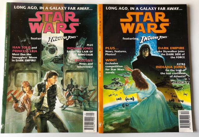 2 Star Wars F/T Indiana Jones Dark Horse UK Comics Issues 3 & 4 1992 & 1993