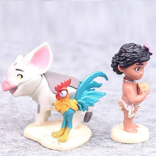 6 Moana Prinzessin Maui Pua Heihei Action Figuren Figur Puppe Spielzeug Toy Set