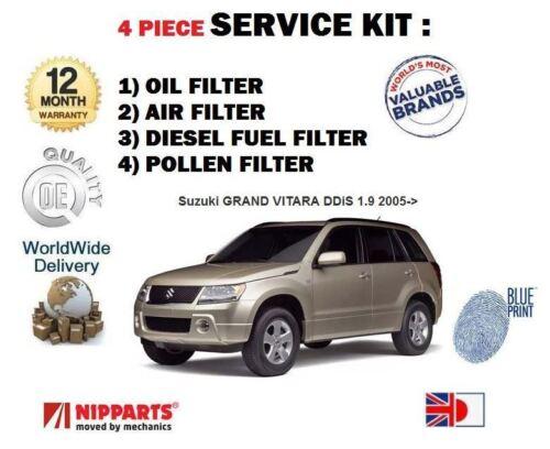 Pour suzuki grand vitara 1.9TD ddis 2005 /> huile air carburant pollen filtre service kit