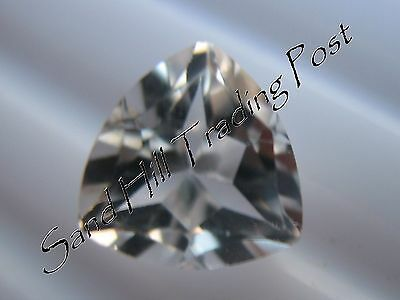 Natural 7mm Loose Trillion Cut 1.37ct White Topaz AAA
