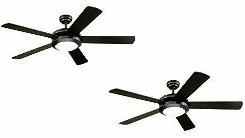 Matte Black Indoor Ceiling Fan Light