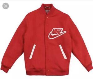 100% Authentic Supreme X Nike SB Varsity Jacket Size Medium Red OG