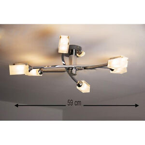 Image Is Loading Modern Chrome Low Ceiling 6 Way Multi Arm