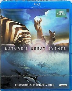 Natures-Great-Events-BBC-Earth-2-Disc-Blu-Ray-NEW-Wildlife-Documentary