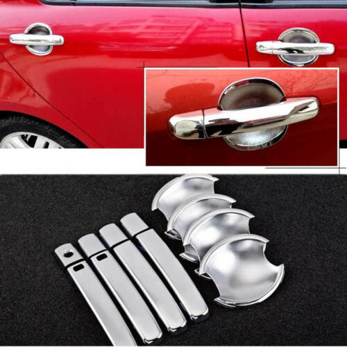 Chrome Door Handle Bowl Cover Cup Overlay Trim For Suzuki Swift #HC50