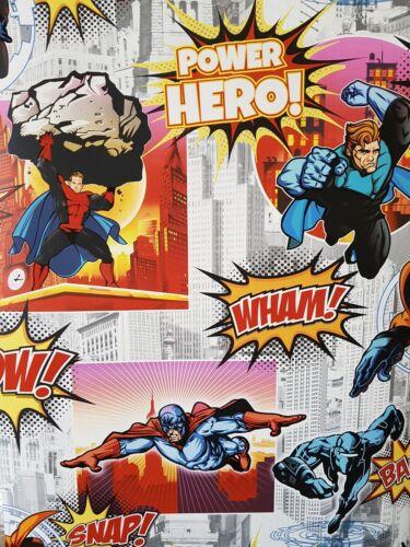 Multi Superhelden Comic Tapete Wolkenkratzer  Tapete Glänzend Power Hero