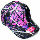 MOON SHINE MUDDY GIRL® CAMO LADIES PINK HUNTING CAMOUFLAGE BALL CAP HAT PURPLE