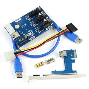 PCIe-1-to-3-PCI-Express-1X-Slots-Riser-Card-Mini-ITX-3-PCI-e-Slot-Adapter