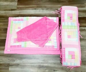 Pottery Barn Kids Baby Girl Pink Patch Quilt Bumper