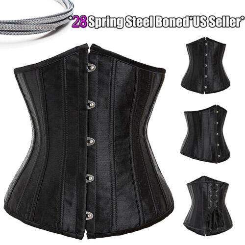 Women Slimming Spiral Steel Boned Corset Lingerie Waist Cincher Shapewear Party