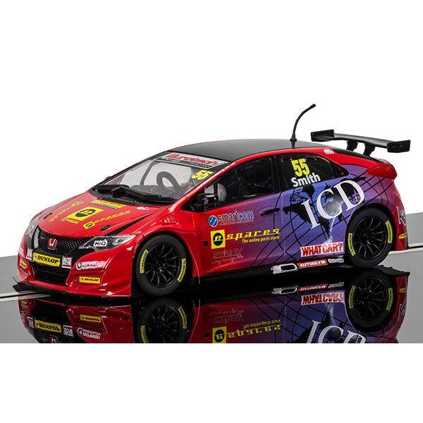 SCALEXTRIC Slot Car C3860 BTCC Honda Civic Type R, Jeff Smith