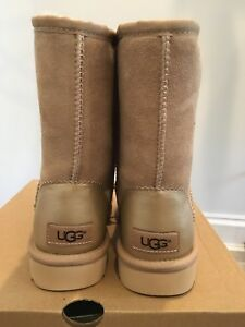 Image is loading Ugg-Australia-Classic-Short-II-Metallic-Driftwood-1019030-