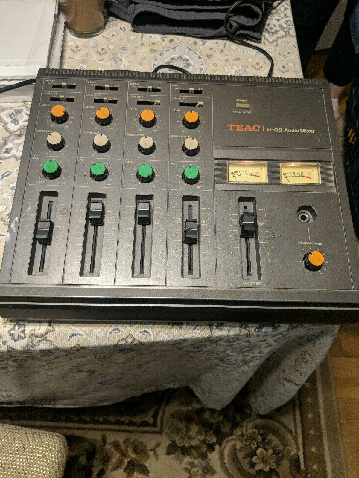 Vintage TEAC M-09 Audio Mixer 4 Channel w  EQ - Works Excellent