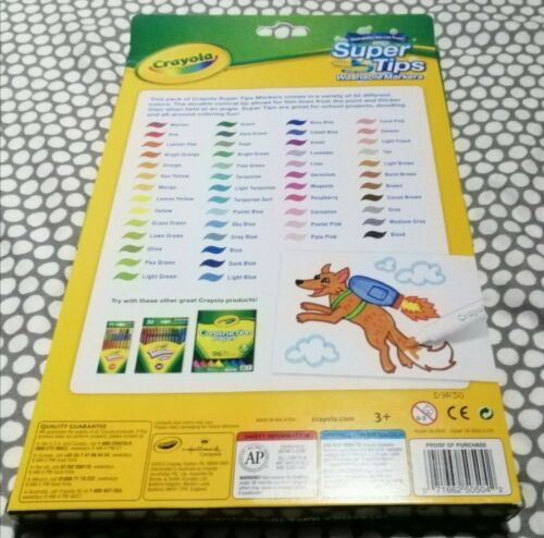 Crayola Supertips 50 Pack Felt Tip Colouring Pens Markers BRAND NEW
