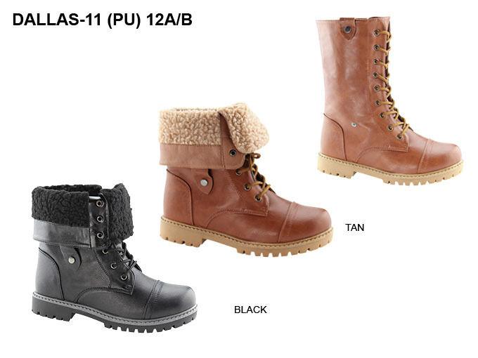 New Women/Juniors Fashion Tan Boots w/laces size 8