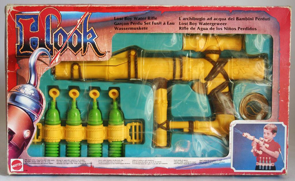 VERY RARE VINTAGE 1991 HOOK LOST BOY WATER RIFLE MATTEL NEW MIB