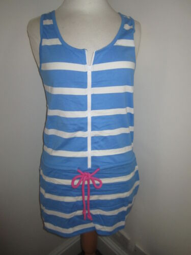 RAMPANT SPORTING Jersey Striped Zip Dress  Sz 10 12 14  RRP£45 FreeUKP/&P