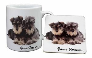 Schnauzer Dog 'Yours Forever' Mug+Coaster Christmas/Birt<wbr/>hday Gift Idea, AD-S76MC