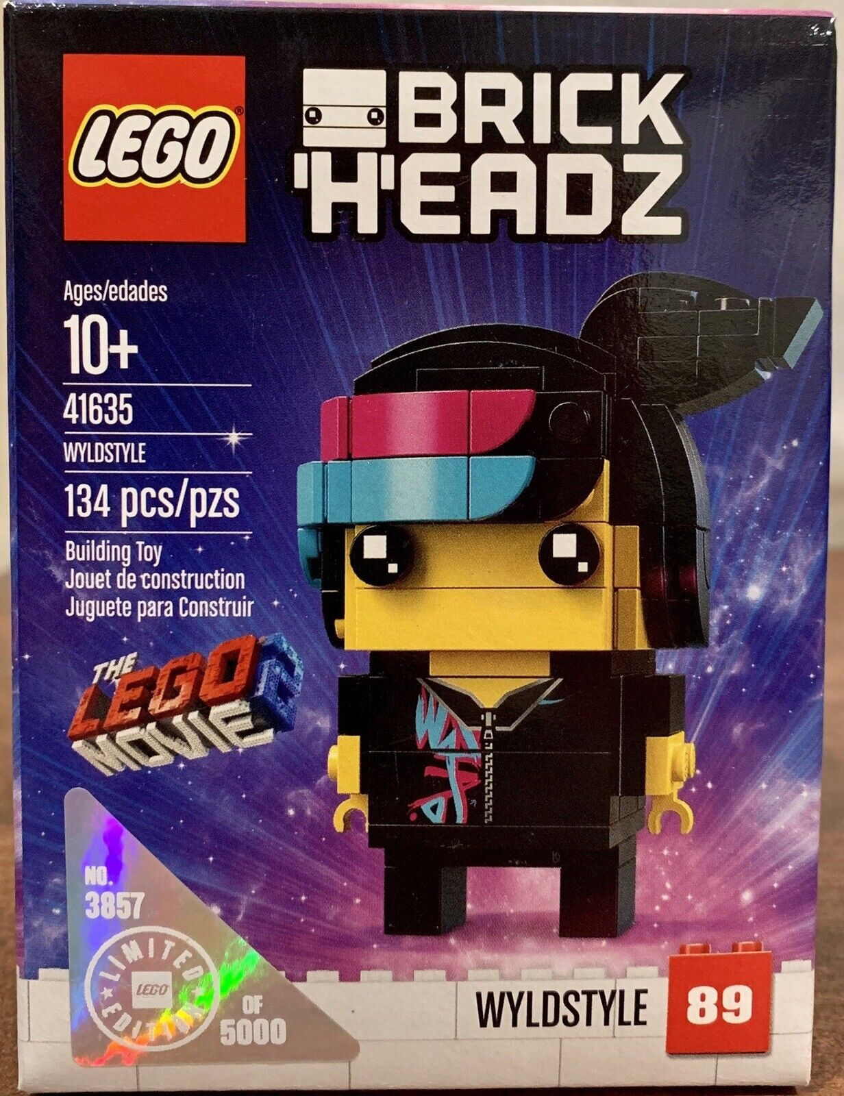 Lego la película 2 brickheadz Ultra Raro Wyldstyle 41635 Edición limitada conjunto Numerada