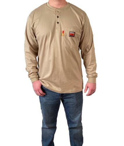 Comeaux FR Henley Welding Welder Work Flame Resistant Long Sleeve T Shirts HRC2