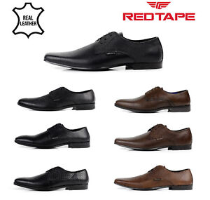 MENS-RED-TAPE-REAL-LEATHER-LACE-UP-CASUAL-OFFICE-SMART-FORMAL-WEDDING-SHOES-SIZE