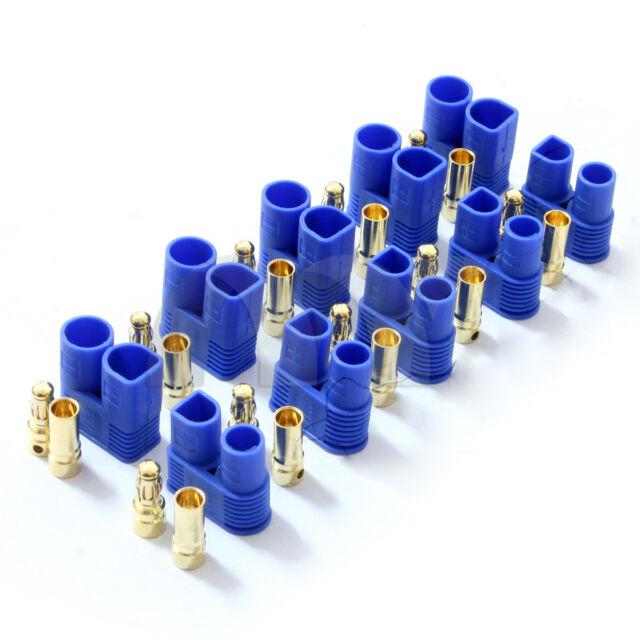 5Pairs EC3 Banana Plug Female Male Bullet Gold Connector For RC ESC LIPO Battery
